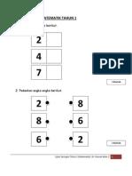 Ujian Saringan Matematik Tahun 1