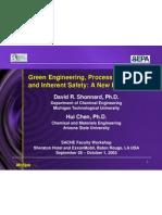 David Shonnard Green Engineering