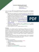 Presentación proyecto Adm. general