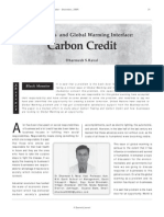 Business and Global Warming Interface_carbon Credit