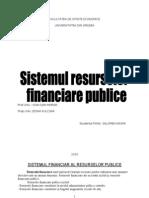 Sistemul Financiar Al Resurselor Publice