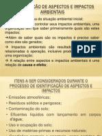 IDENTIFICAÇÃO DE ASPECTOS E IMPACTOS AMBIENTAIS