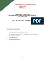 ACCT101 Financial Accounting 2000-2001-1