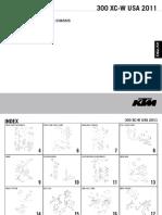 KTM 300XCW 2011 Parts Manual