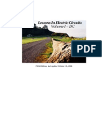 Lessons in Electric Circuits- Volume I