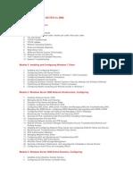 Nội dung chương trình MCITP