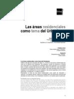 Areas Residenciales Tema Urbanismo