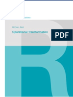 McKinsey Telecoms. RECALL No. 09, 2009 - Operational Transformation