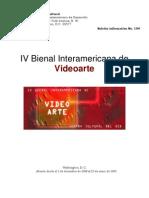 IV Bienal Inter Americana de Videoarte BID Premios
