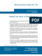 GS DDM Fair Value Model