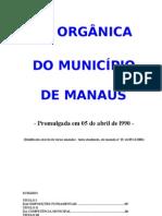 LEI ORGÂNICA DO MUNICÍPIO DE MANAUS - Atualizada - 09  MAI 2