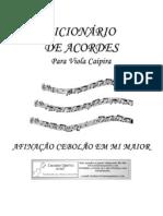 dicionario de acordes