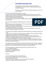 United Nations Internship Programme 2012