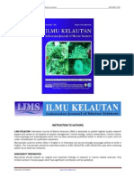 Ilmu Kelautan, Indonesian Journal of Marine Sciences