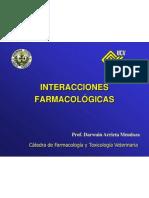 INTERACCIONES FARMACOL+ôGICAS pregrado dam2012 ESTUDIANTES