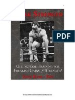 Old School Training for Freakish Gains in Strength - Freak Strength by Zach Even-Esh