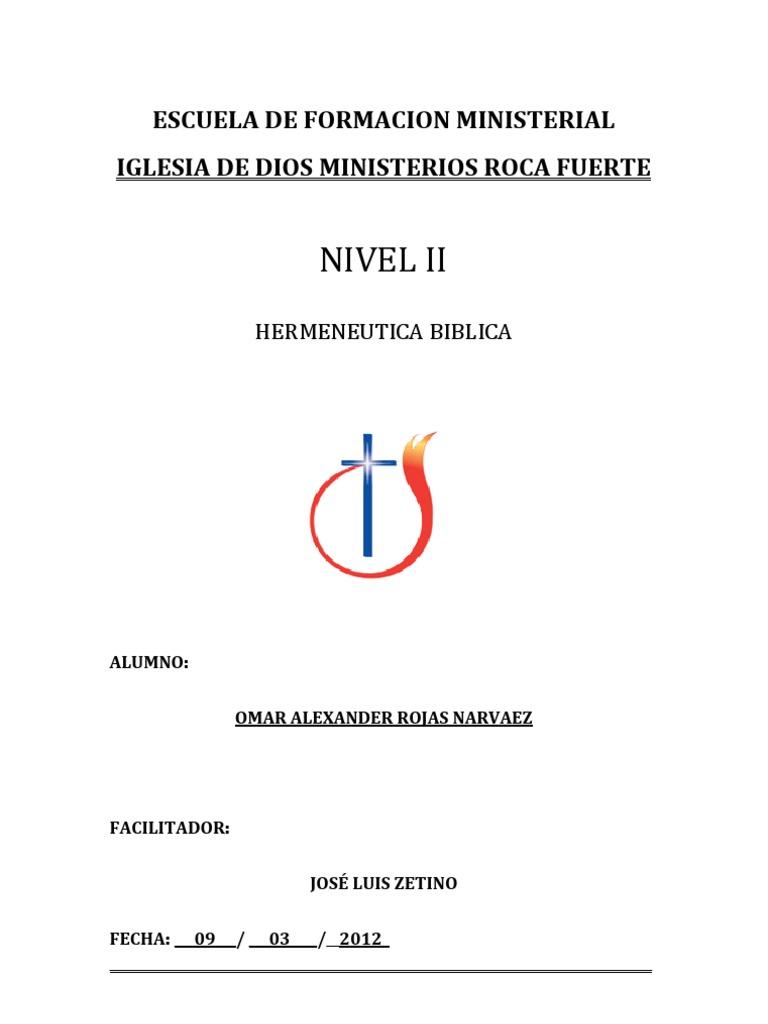 Escuela de Formacion Ministerial - Divinidad (Disciplina..
