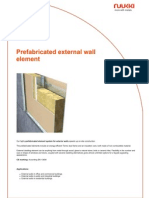 Prefabricated External Wall Element