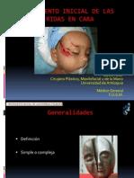 Tto Inicial de Las Heridas en La Cara, Dr David Teller, Husvp