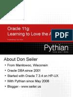 Seiler Pythian Learning to Love the ADR