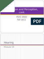 Sensation Perception Modules 19-20 Class