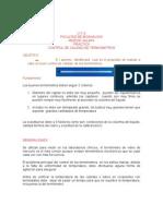 Practica CONTROL DE CALIDAD EN Termometros