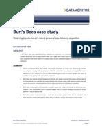 Burt Bees Data Monitor