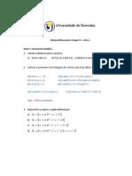 Res. Cálculo Diferencial e Integral 3- Lista 1-2012