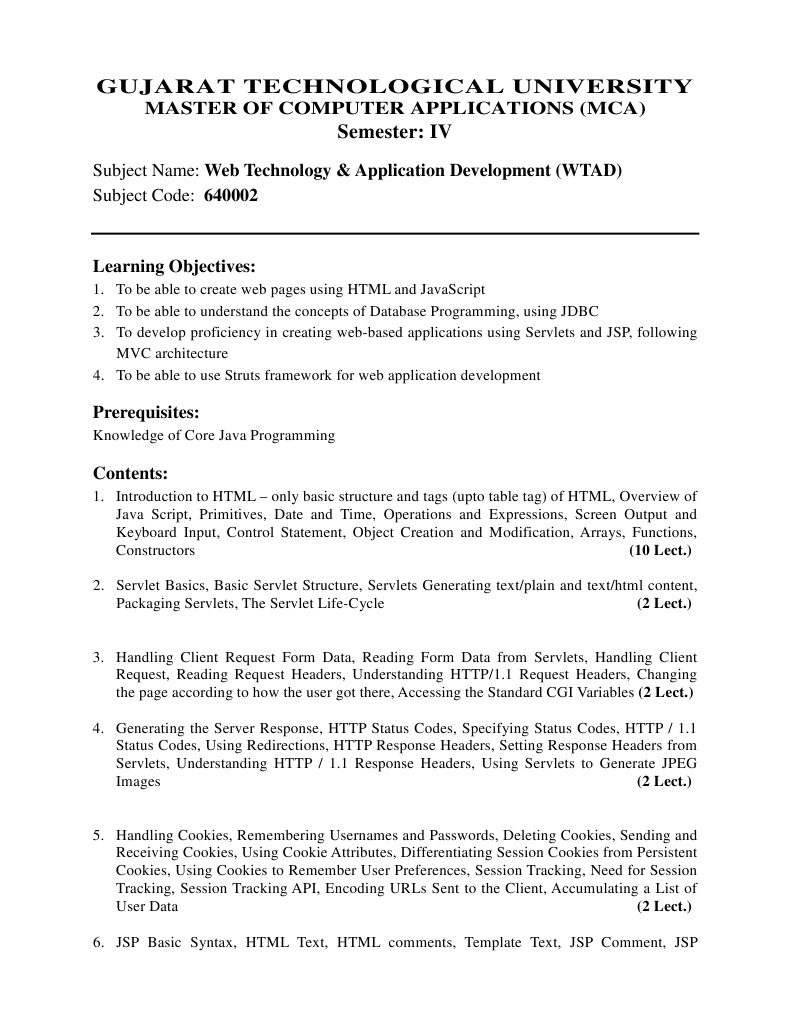 Web technology application development wtad java servlet web technology application development wtad java servlet java server pages baditri Gallery