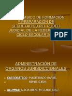 ADMINISTRACIÓN DE ÓRGANOS JURISDICCIONALES