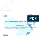 China Pharmaceutical Medicine Mfg. Industry Profile Cic2720