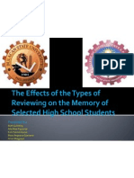 The Effects of the Types of Reviewing On