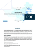 China Pollution Treatment Medical Materials Mfg. Industry Profile Cic2666
