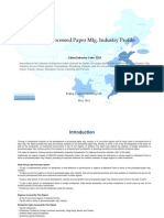 China Processed Paper Mfg. Industry Profile Cic2223