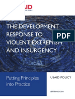 THE DEVELOPMENT RESPONSE TO VIOLENT EXTREMISM AND INSURGENCY USAID POLICY BUREAU FOR POLICY, PLANNING AND LEARNING SEPTEMBER 2011 Putting Principles into Practice
