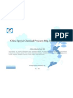 China Special Chemical Products Mfg. Industry Profile Cic2662