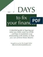 31 Days to Fix Your Finances