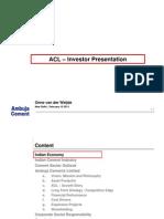 ACL Investor Presentation - February , 2011