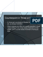 Counterpoint in Three or More Parts