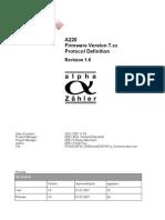 A220FW7xx Communication