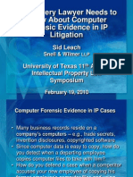 Sid Leach - Computer Forensic Evidence in IP Litigation
