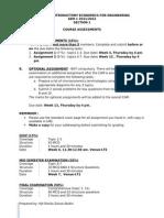 Course Assesment ECON1550 S1 2011