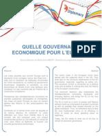QUELLE GOUVERNANCE ECONOMIQUE POUR L'EUROPE ?  - Marie-Sixte IMBERT