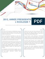 2012, ANNEE PRESIDENTIELLE POUR L'ECOLOGIE ? - Jeremy LAMRI