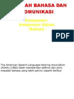 Masalah Bahasa Dan Komunikasi