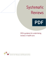 Systematic Reviews CDR 2009