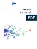 Manual Samsung GT C6712