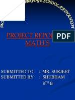 PROJECT REPORT OF MATH'S