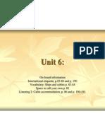 Unit 6 International Etiquette