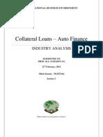 Auto Finance Industry Analysis